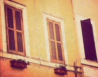 Rome artwork, fine art photograph, travel photography, vintage, Europe, Italian, neutral decor - Classic Italy