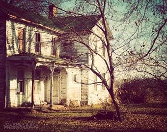 Country photography, fine art picture, Midwest photograph, vintage, farmhouse, rural, Illinois, 1800s architecture - The Farm