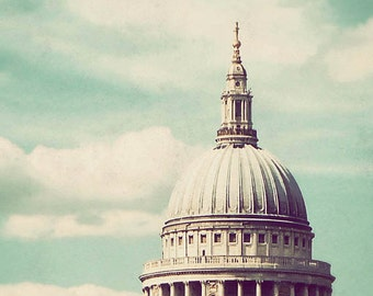 London Love - St. Paul's Cathedral, pastel decor, travel photograph, dreamy, England art, London photography