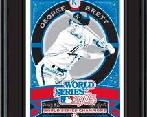 George Brett - Kansas City Royals Baseball Framed Screen Print