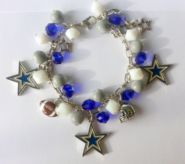 dallas cowboys charm bracelet by charminglywhimsical on etsy