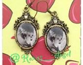 Bride of Frankenstein earrings