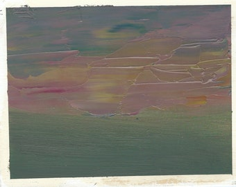 Original Oil Painting:  Clouded