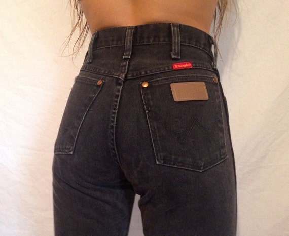 long lean womens 90 39 s wrangler black jeans 5 x 34. Black Bedroom Furniture Sets. Home Design Ideas