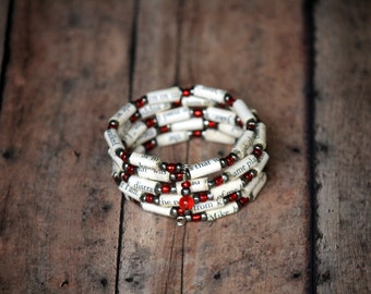 New Moon - Twilight Saga Upcycled Book Jewelry: Spiral Wrap Bracelet