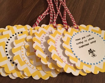 Mickey Mouse Club House Favor Tags
