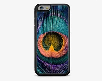 IPHONE 6 Plus Case, iPhone 6 Cover, PEACOCK FEATHER iPhone Case