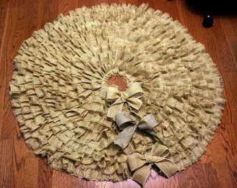 Ruffled Burlap Tree Skirt