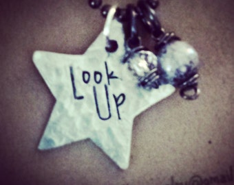 Star necklace; Look up necklace; Inspirational jewelry