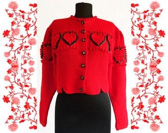 "Vintage Deadstock NOS  ""Theo Huber"" Handknitted Cardigan Waistcoat"