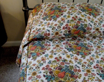Bedspread 1950's Twin Retro - Tailored Handmade Twin Retro Bedspread - Cottage Chic Retro Bedspread