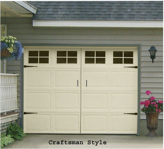 Garage Door Window Decal Craftsman Style Single Stall