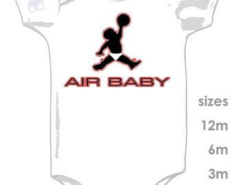 Air Jordan Air Baby in Diaper Funny Cute Onesie - MJ 23 - Bulls - NBA