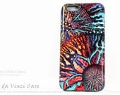 Abstract Coral iPhone 6 6s Case - Artistic iPhone 6 Cover - Cosmic Star Coral - Artist Dual Layer iPhone 6s Tough Case by da Vinci Case