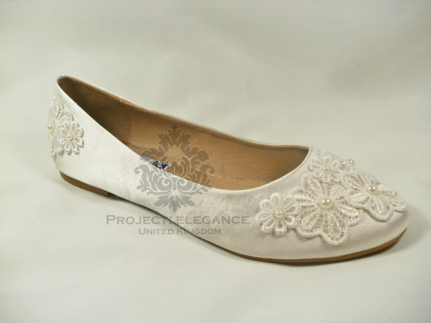 Ivory Wedding Shoes Flat Ivory Bridal Shoes Flat Lace Wedding