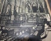 Beautiful, haunting church drawing