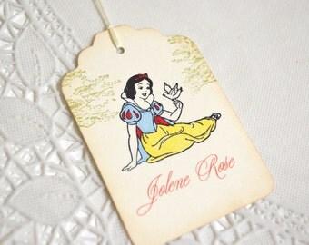 Snow White Tags - Vintage Style