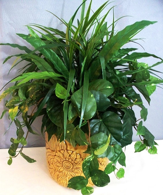 Silk plants greenery artificial christmas holiday floral