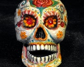 Day of the Dead Skull Tobacco Pipe