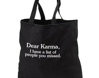 Dear Karma New Black Tote Bag Books Shop Gifts Events Fun