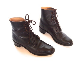 size 5.5 vintage 90s brown leather boots