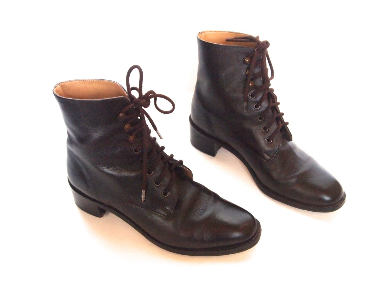 size 5 5 vintage 90s brown leather boots