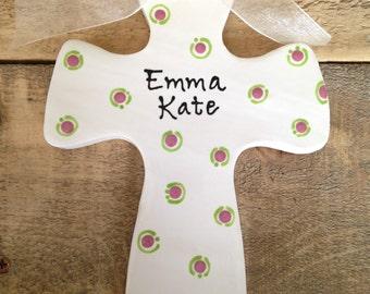 Custom Ceramic Cross Keepsake Gift