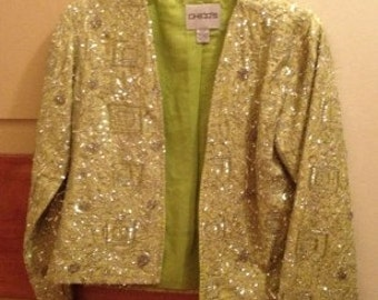 Casual-meets-glam jacket from Chico's in apple green