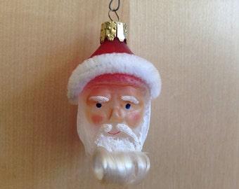 Vintage Christmas Ornament Santa Claus Blown Glass Christborn Germany