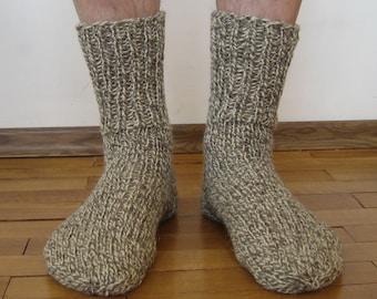Knitted wool Socks Men's size // Wool socks men