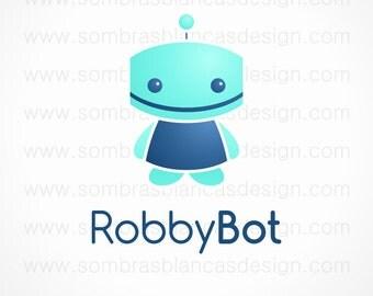 OOAK Premade Logo Design - Blue Bot
