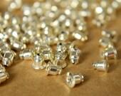 100 pc. Silver Plated Bullet Earnuts | FI-121