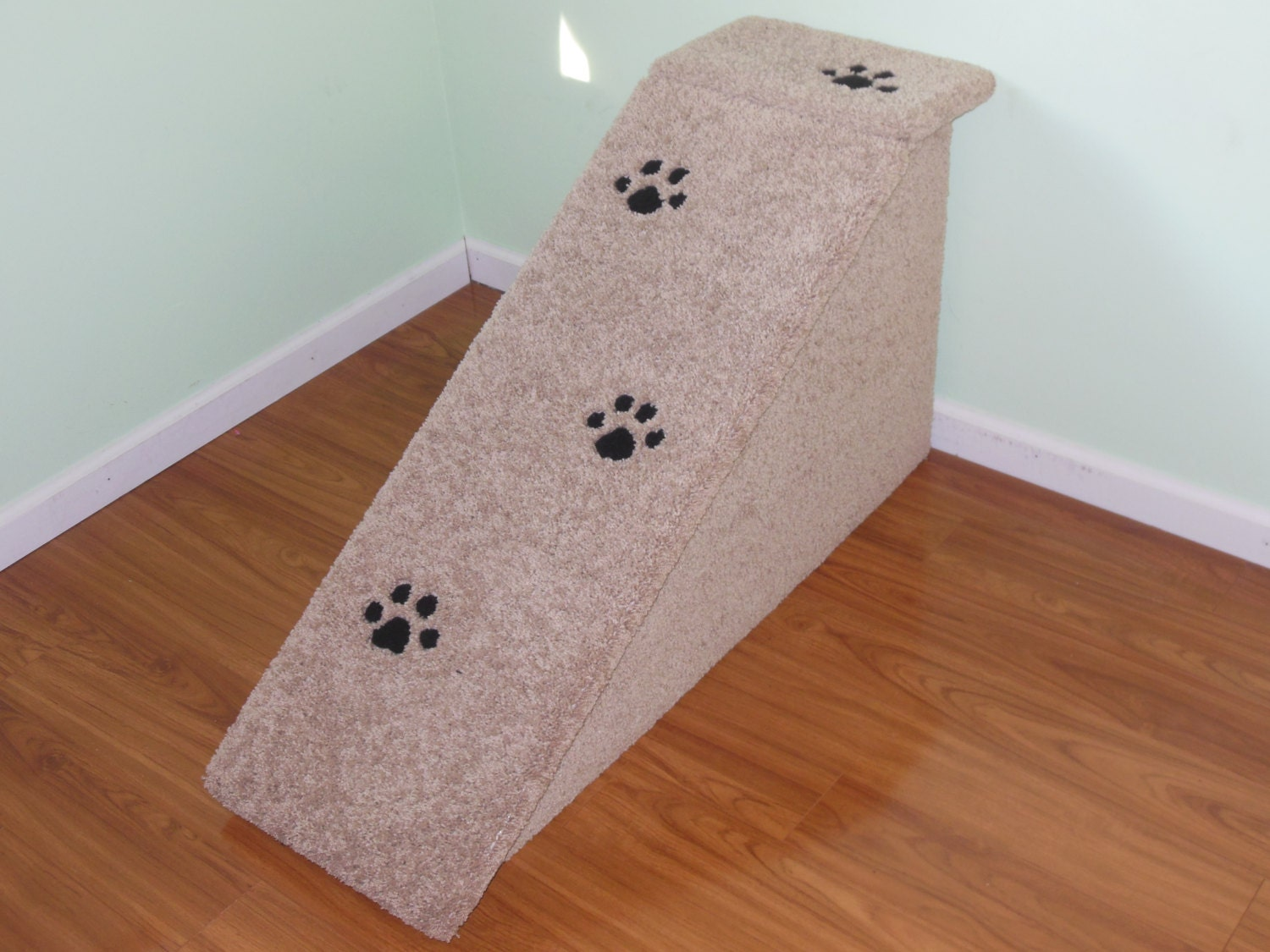 24 inch tall dog ramp all wood and screw construction pet