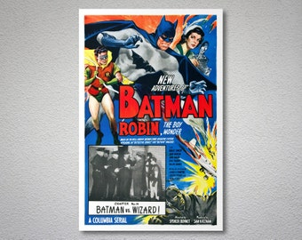 The New Adventures Batman and Robin Movie Poster - Paper, Sticker or Canvas Print