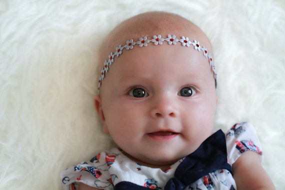 Flower Headband with Swarovski Crystals, Baby girls, photography, Toddlers, Flower girls,  gold, silver. white, ivory, pink