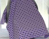 Car Seat Canopy - Purple Diamonds