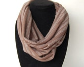 Infinity Scarf Jersey Knit Brown