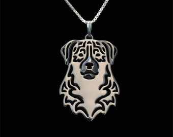 Australian Shepherd jewelry - sterling silver pendant and necklace