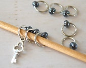 Key to Your... Knitting Stitch Markers / Small Medium Large Sizes Available