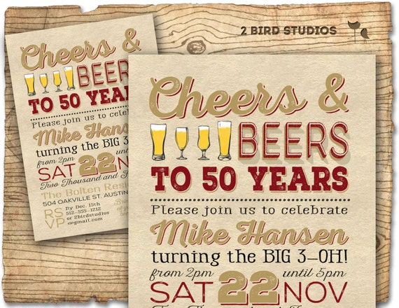 50th Birthday Invitation Surprise Party 50th Birthday Invite