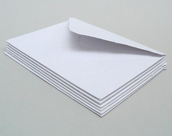 White envelopes, handmade recycled paper, A2 size, set of 10