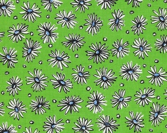 Daisies on Green (C)  by Suzuko Koseki for  Yuwa of Japan