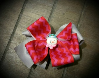 M2M  Snowman Boutique Hairbow for Infants, Toddlers  and Girls!