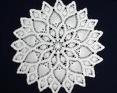 round crochet doily white custom request