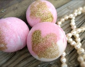 Birthday Gift Bath Bomb, Sweet Pink Sugar Bath Fizzy, Pampering Gift for HER, Fun Scented Bath Fizzy