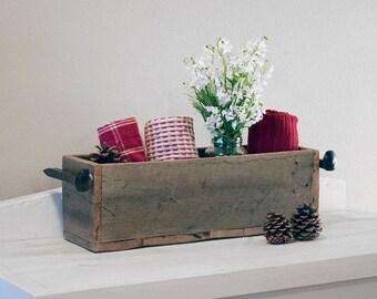 Rustic wood tool holder, reclaimed wood box