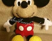 Mickey Mouse, Mickey Stuffed Animal, Stuffed Mickey, Crochet Mickey, Mickey Mouse Stuffed Toy, Mickey Toy, Mickey Decor, Mickey Nursery