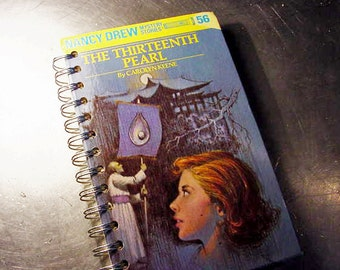 NANCY DREW JOURNAL Thirteenth Pearl Altered Vintage Book Banner top