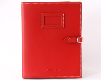 2 in 1 Handmade Leather iPad Case and Stand - Red