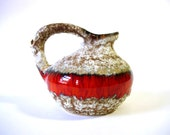 Fat Lava Vase by Jopeko  // West German Pottery // Red // mid century